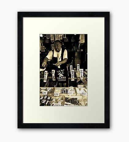Fish Market Man Framed Print