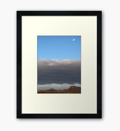 Marana, Az ~ Moonscape Framed Print