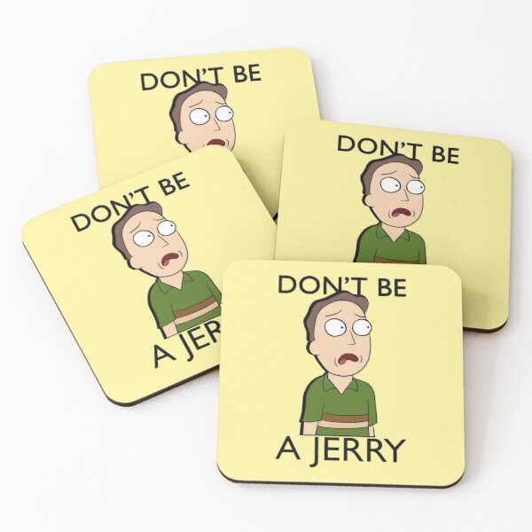 Don't Be A Jerry | Rick and Morty  Coasters (Set of 4)