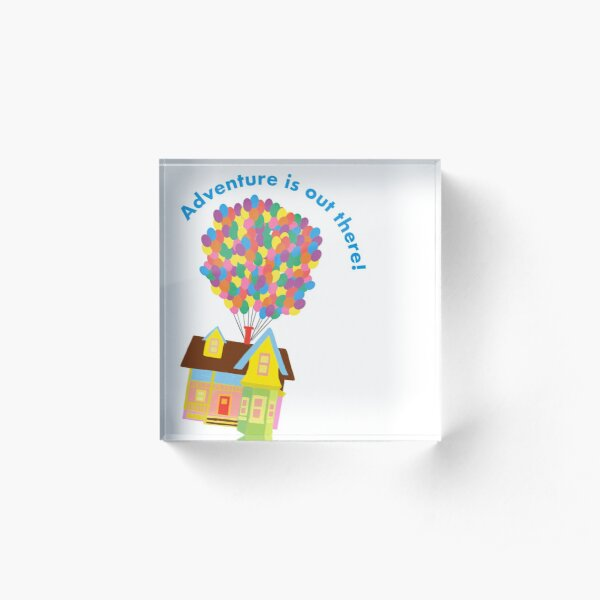 Balloon House Sticker Acrylic Block
