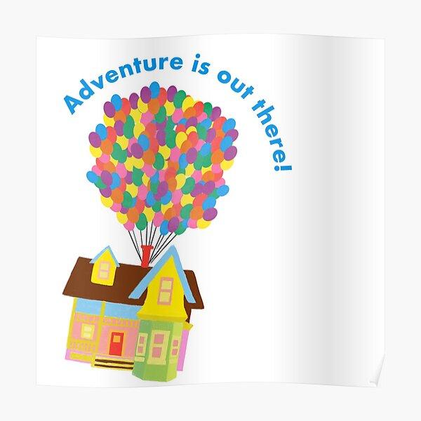 Balloon House Sticker Poster