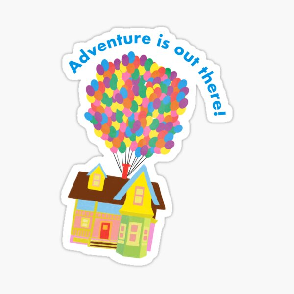 Balloon House Sticker Sticker