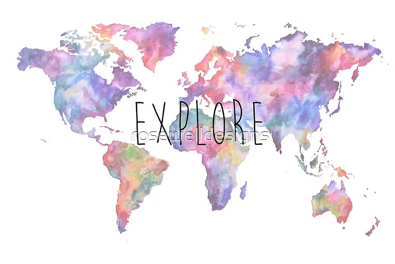watercolor world map sticker gallery