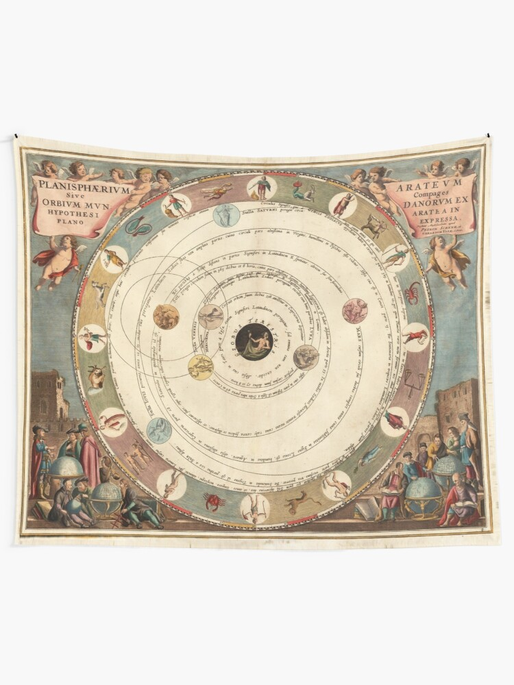 Alternate view of Vintage Zodiac Circle with Horoscope Tapestry