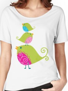 Birdy Stack :: lime Women's Relaxed Fit T-Shirt