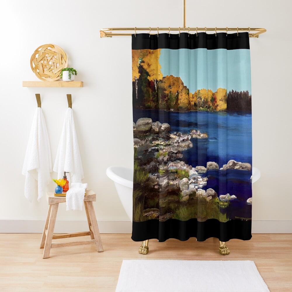Mona's Landing Shower Curtain