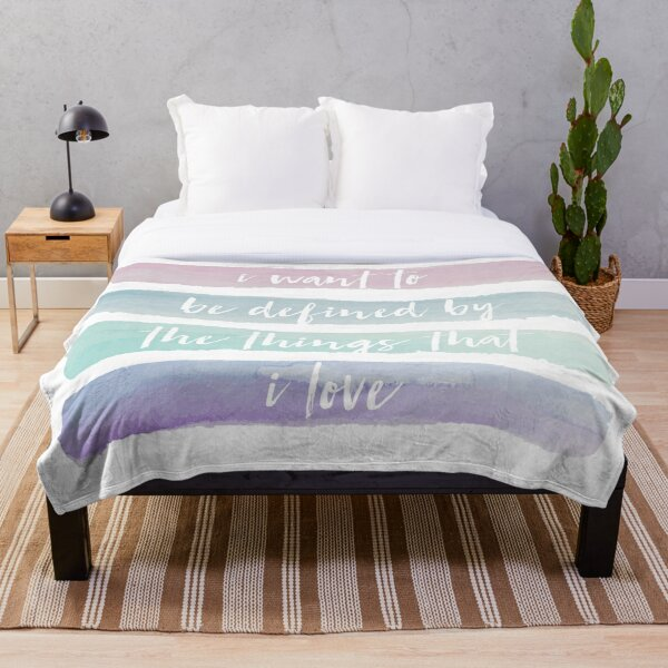 daylight quote Throw Blanket