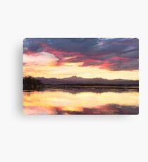 Colorful Colorado Rocky Mountain Sky Reflections Canvas Print