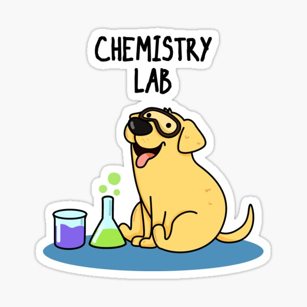 Chemistry Lab Animal Pun Sticker