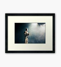 Comedian in action Framed Print