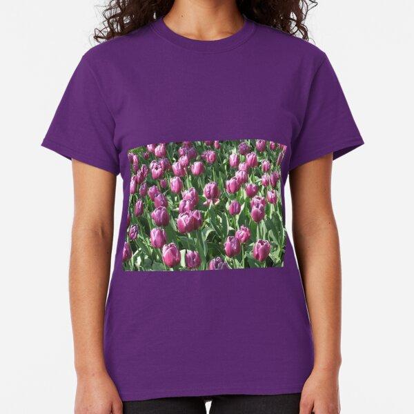 Keukenhof Gardens - Purple Tulips  Classic T-Shirt