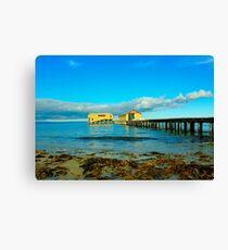 Pier buildings, Queenscliff pier Canvas Print