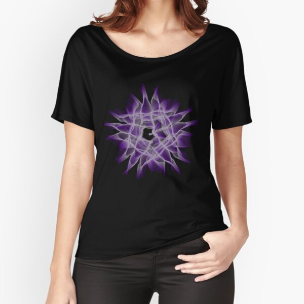 Abstract Violet Spiral Lines Relaxed Fit T-Shirt