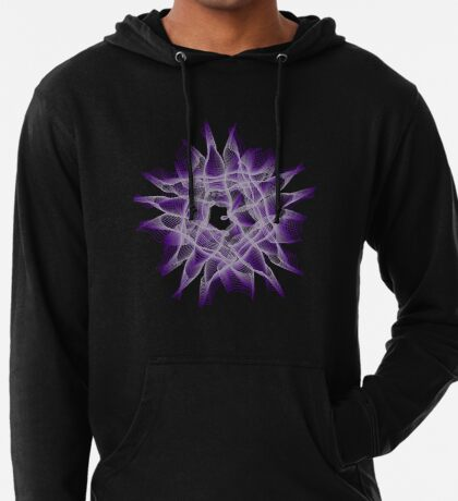 Abstract Violet Spiral Lines Lightweight Hoodie
