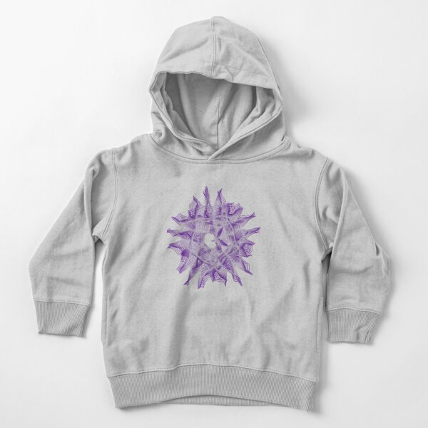 Abstract Violet Spiral Lines Toddler Pullover Hoodie