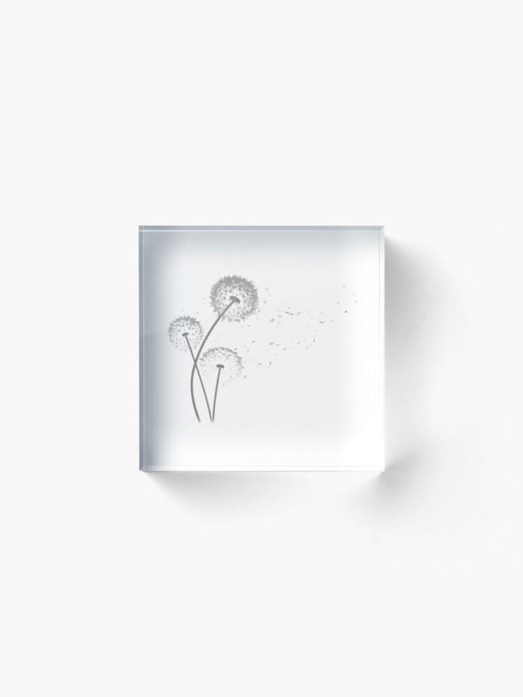 Alternate view of Dandelion Wishes Acrylic Block