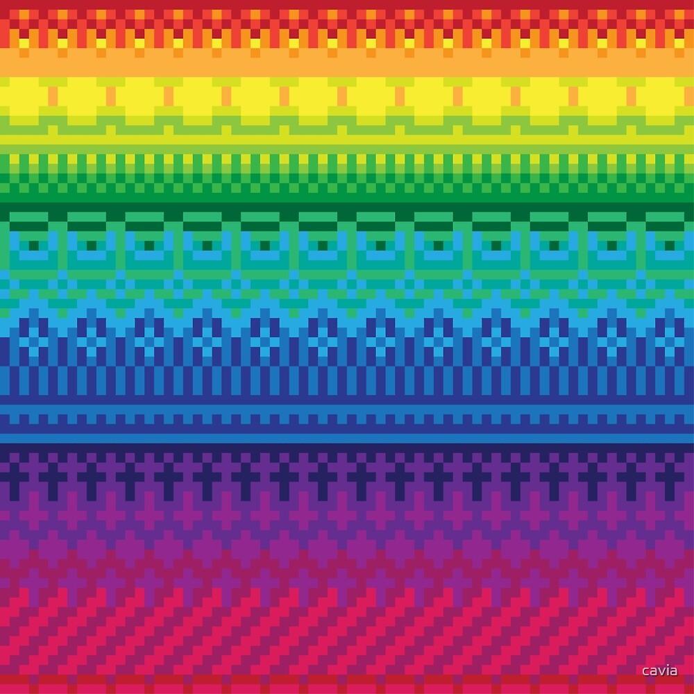 rainbow of pixels pattern by cavia