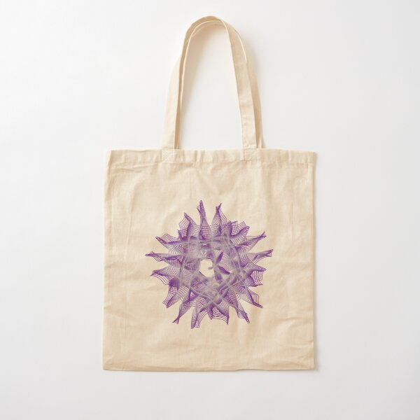 Abstract Violet Spiral Lines Cotton Tote Bag