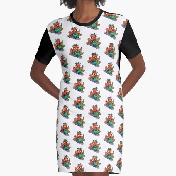 Toy Factory Monster Graphic T-Shirt Dress