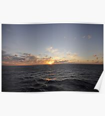 Sunset over The Bay of Biscay Poster