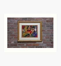 Jaguar Jungle~ Needlepoint Art Print