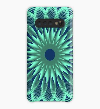 Spirograph in seagreen Case/Skin for Samsung Galaxy