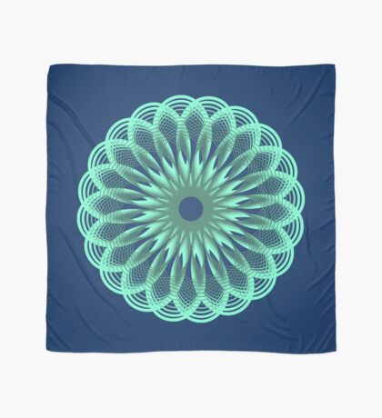 Spirograph in seagreen Scarf