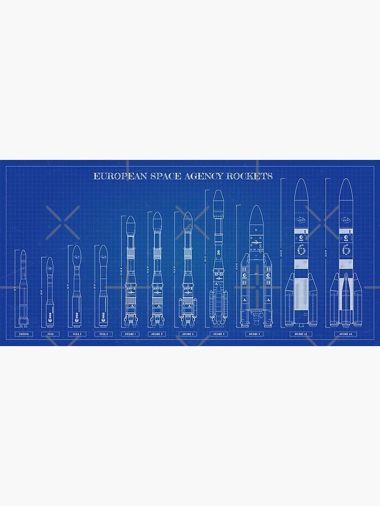 European Space Agency Rockets Blueprint by BGALAXY