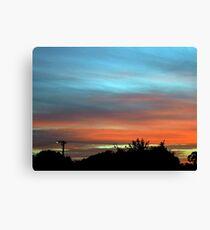 sunset suburbia Canvas Print