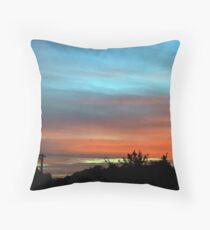 sunset suburbia Throw Pillow
