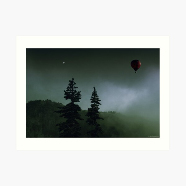 balloon over Whistler_ Art Print