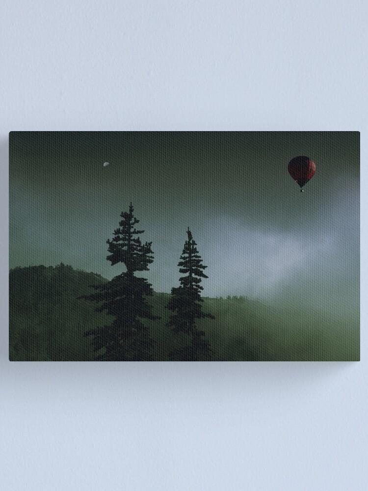 Alternate view of balloon over Whistler_ Canvas Print