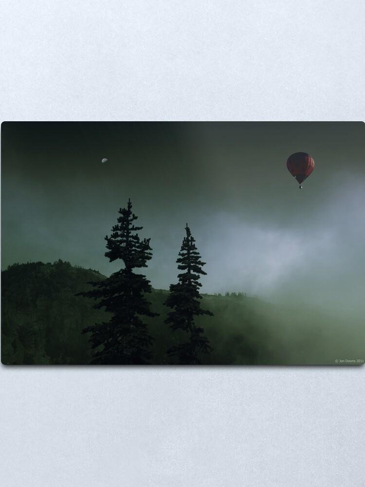 Alternate view of balloon over Whistler_ Metal Print