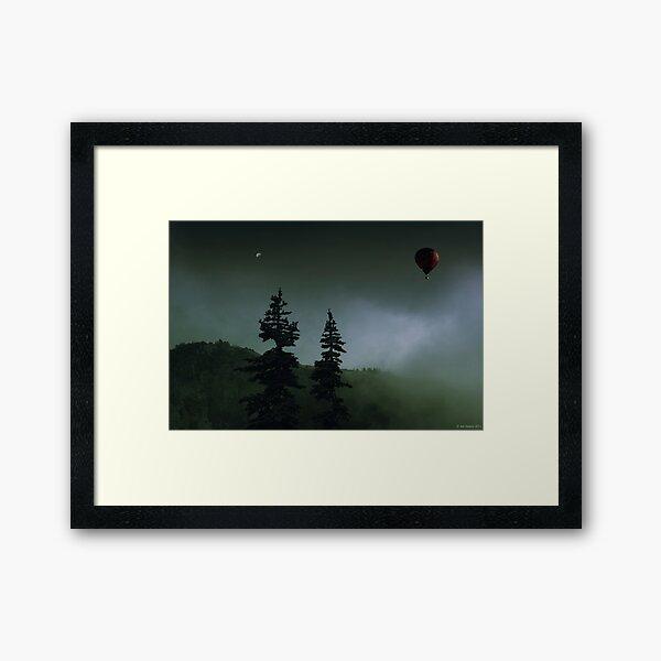 balloon over Whistler_ Framed Art Print