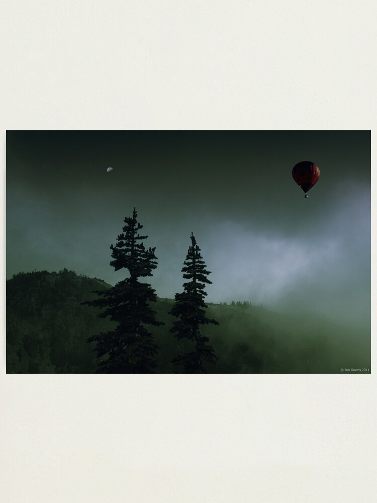 Alternate view of balloon over Whistler_ Photographic Print