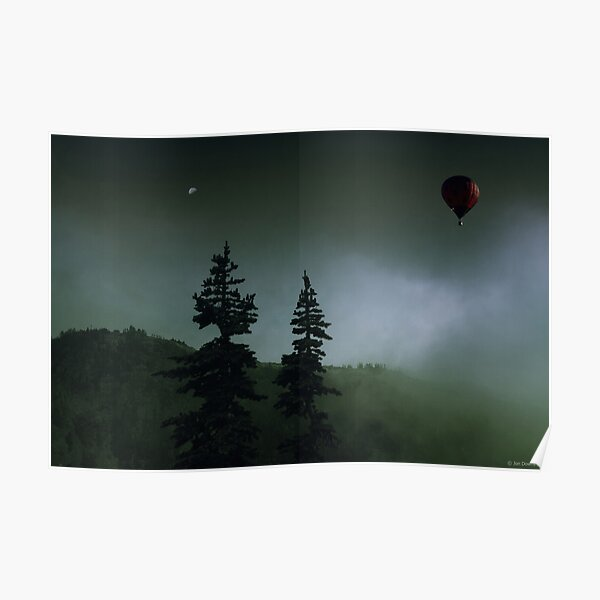 balloon over Whistler_ Poster