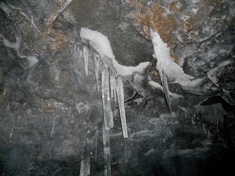 Inside the Ice Cave 1 by Deborah Singer