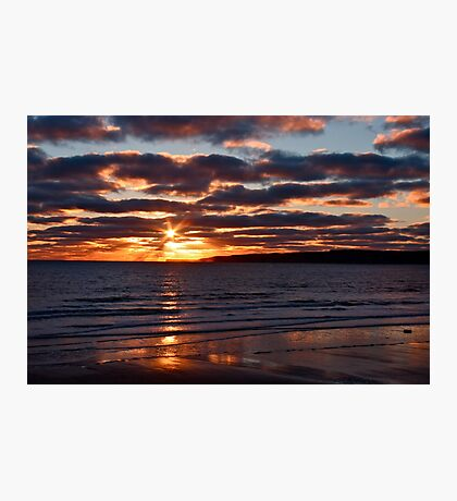Filey bay 8am Photographic Print