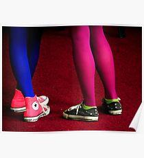Fluorescent Legs Poster