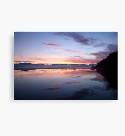 Cerknica lake at dawn, Notranjska, Slovenia Canvas Print
