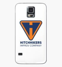 Hitchhikers Improv (Navy & Orange) Case/Skin for Samsung Galaxy