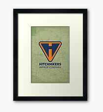 Hitchhikers Improv (Navy & Orange) Framed Print
