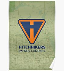 Hitchhikers Improv (Navy & Orange) Poster