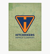 Hitchhikers Improv (Navy & Orange) Photographic Print