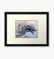 Bucks County Covered Bridge Framed Print