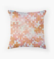 Gold Puzzle Pieces Throw Pillow
