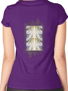Nonstop Apple Blossom Abstract Women's Fitted Scoop T-Shirt