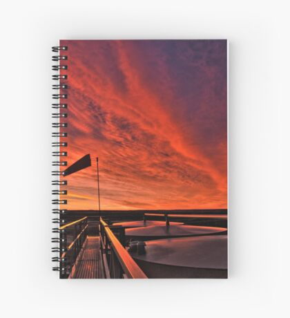 "Sunrise over the "" Bakken ""  Spiral Notebook"