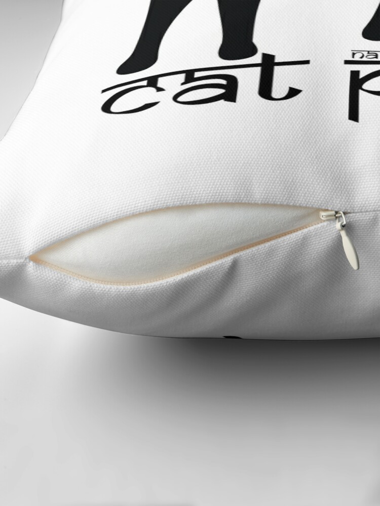 Alternate view of Cat Pose 1 - Cat Yoga (black text) Throw Pillow