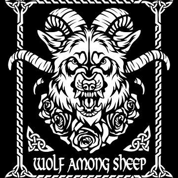 Wolf among sheep by FatLizardStudio